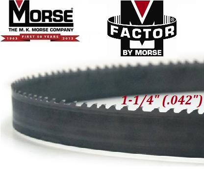 "M-Factor by Morse EX (exotics) 1-1/4"" (.042"") m-factor, m, factor, mk, morse, ex, exotics, band, saw, bandsaw, blade, blades, carbide, tip, tipped"