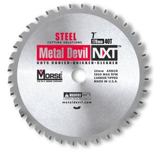 "Metal Devil NXT 7"" 40T Steel Cutting Circular Saw Blade CSM740NSC"
