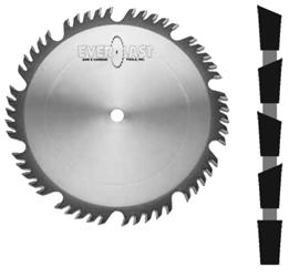 "10"" x 50T x 5/8"" Combination Grind Carbide Saw"