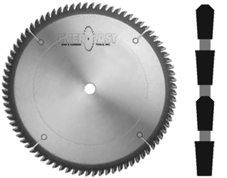 "10"" x 80T x 5/8"" TCG Thin Kerf Carbide Saw"