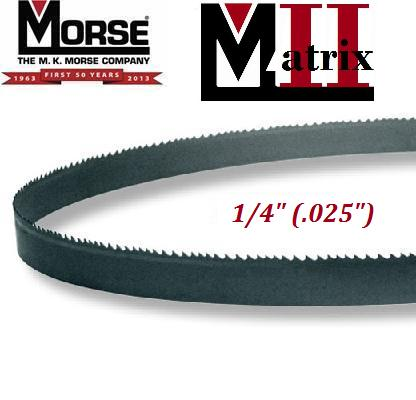 "Martix II General Purpose Bi-Metal Blade 1/4"" (.025"") matrix ii general purpose bi-metal bi metal band saw bandsaw blade blades"