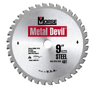 "Metal Devil 9"" 68T Steel Cutting Circular Saw Blade CSM968TSC"