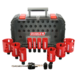 Diablo Hole Saw Set DHS14SGP 14 Piece Bi-Metal General Purpose