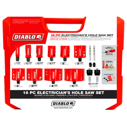 Diablo Hole Saw Set DHS16SEL 16 Piece Bi-Metal Electricians Set