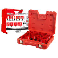 Diablo Hole Saw Set DHS17SPL 17 Piece Bi-Metal Plumbers Set